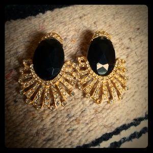 Vintage Tara Julian statement earrings goldtone
